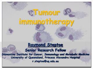 Tumour immunotherapy