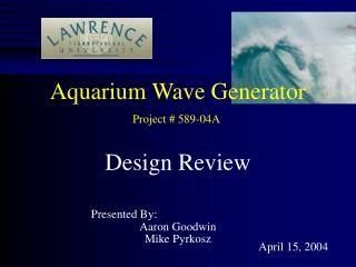 Aquarium Wave Generator