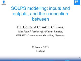 SOLPS modelling: inputs and outputs, and the connection between