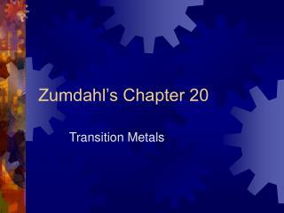 Zumdahl's Chapter 20