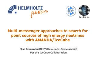 Multi-messenger approaches to search for point sources of high energy neutrinos with AMANDA