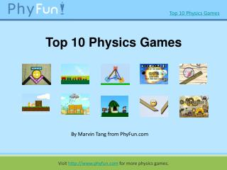 Top 10 cool online Physics Games