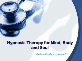Hypnosis Therapy for Mind, Body and Soul