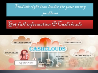 Find the right lender for a bad credit loan