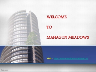 Mahagun Meadows Noida