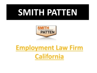 Employment Law Firm California