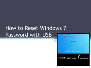 How to Reset Windows 7 Password USB