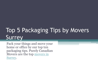 Helpful Moving Tips by Surrey Movers