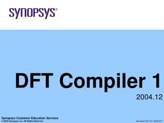 DFT Compiler 1 2004.12