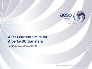 AESO current limits for Alberta-BC transfers