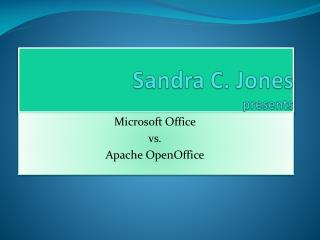 Sandra C. Jones presents