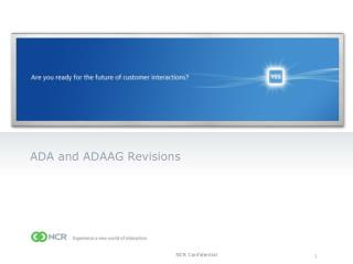 ADA and ADAAG Revisions