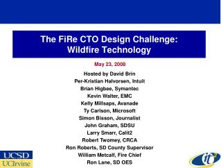 The FiRe CTO Design Challenge: Wildfire Technology
