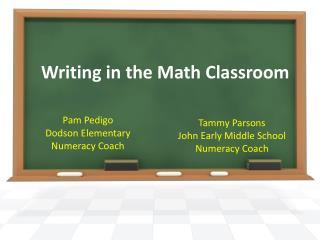 Writing in the Math Classroom