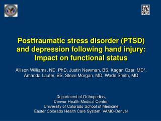 DSM IV TR Criteria: PTSD