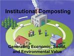 Institutional Composting