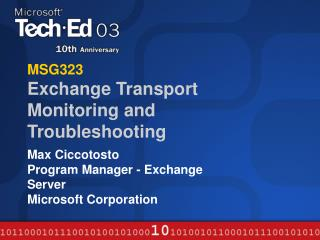 MSG323 Exchange Transport Monitoring and Troubleshooting
