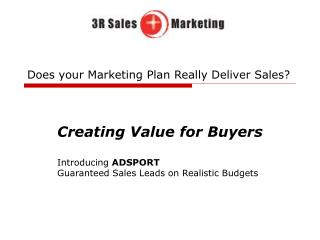 Does your Marketing Plan Really Deliver Sales?