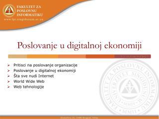 Poslovanje u digitalnoj ekonomiji