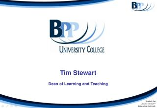 Tim Stewart Dean of Learning and Teaching