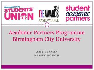 Academic Partners Programme Birmingham City University