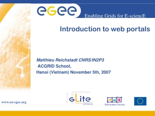 Introduction to web portals