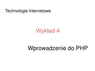 Wprowadzenie do PHP