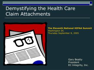 Demystifying the Health Care Claim Attachments