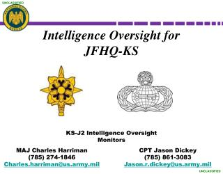 Intelligence Oversight for JFHQ-KS