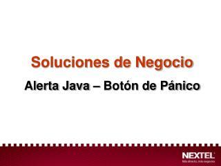 Soluciones de Negocio Alerta Java – Botón de Pánico