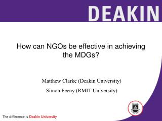 How can NGOs be effective in achieving the MDGs?