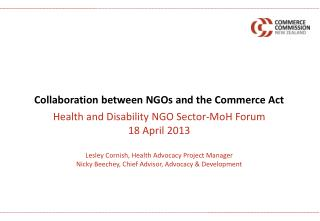 Collaboration between NGOs and the Commerce Act