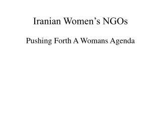 Iranian Women's NGOs