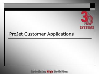 ProJet Customer Applications