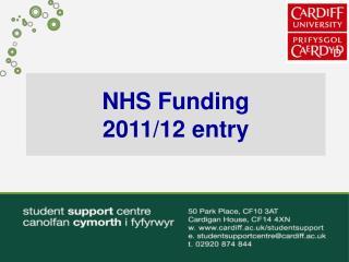 NHS Funding 2011/12 entry