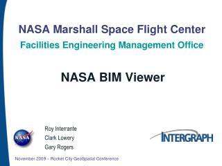 NASA Marshall Space Flight Center Facilities Engineering Management Office