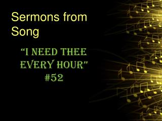 Sermons from Song
