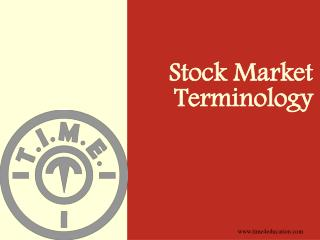 Stock Market Terminology