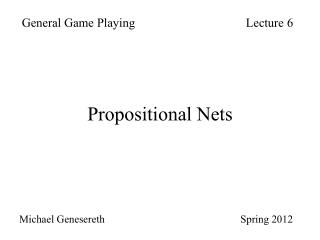Propositional Nets