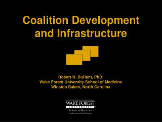 Coalition Development  and Infrastructure