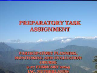 PREPARATORY TASK ASSIGNMENT