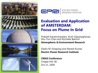 Evaluation and Application of AMSTERDAM: Focus on Plume In Grid