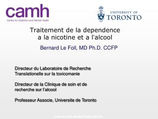 Traitement de la dependence a la nicotine et a l ' alcool