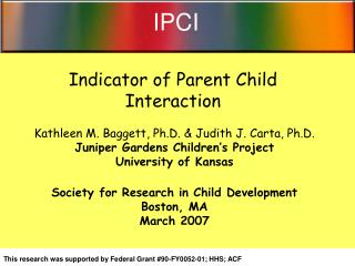 Indicator of Parent Child Interaction