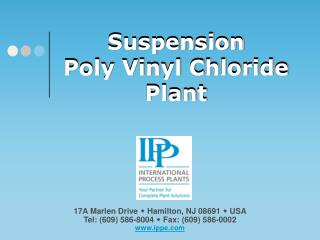 Suspension Poly Vinyl Chloride Plant