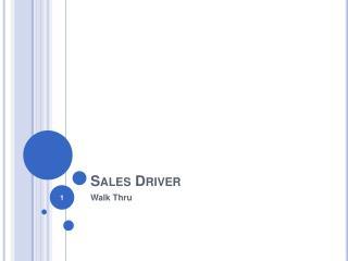 Sales Driver