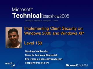 Implementing Client Security on Windows 2000 and Windows XP Level 150