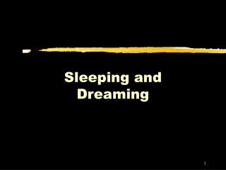 Sleeping and Dreaming