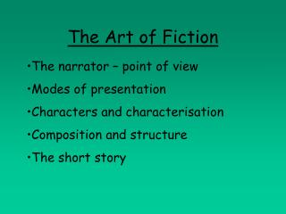 The Art of Fiction