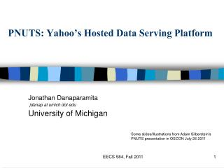PNUTS: Yahoo's Hosted Data Serving Platform